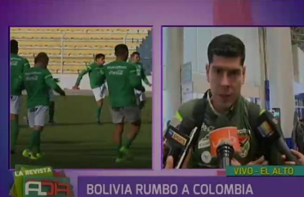 Selección de Bolivia parte rumbo a Colombia