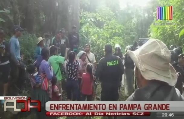 Enfrentamiento en Pampa Grande