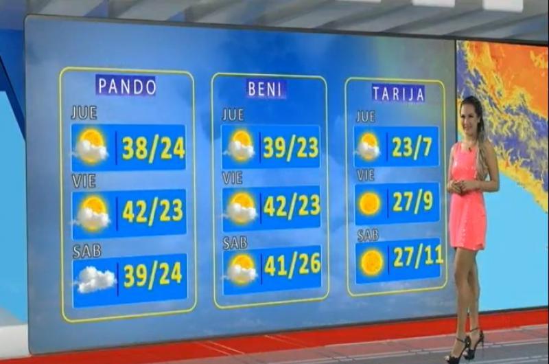 Pronostico del tiempo de Bolivision meridiano 04/09/2019