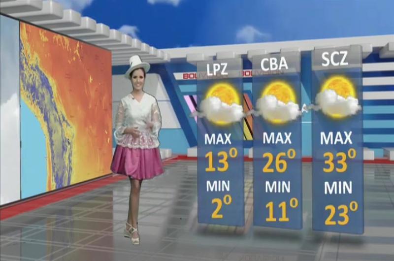 Pronóstico del tiempo de Bolivisión: Sábado 14 de septiembre del 2019