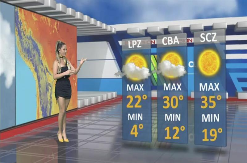 Pronóstico del tiempo de Bolivisión. Lunes 16 de septiembre del 2019