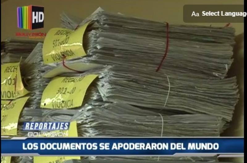 """""""Reportajes Bolivision"""" Los documentos se apoderan del mundo"""