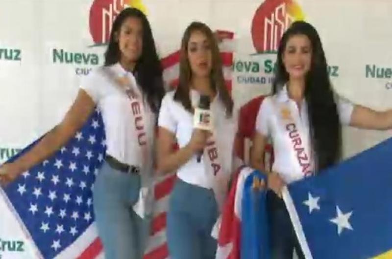 Candidatas a Reina Hispanoamericana visitaron la Nueva Santa Cruz