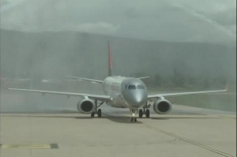 Amaszonas presenta su nueva aeronave Embraer 190