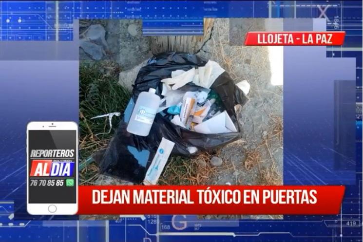 """""""Reporteros Al Día"""" Dejan material toxico en puerta"""