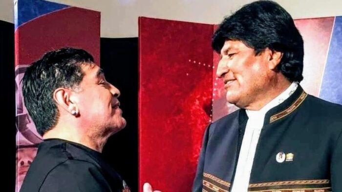 Evo Morales Maradona