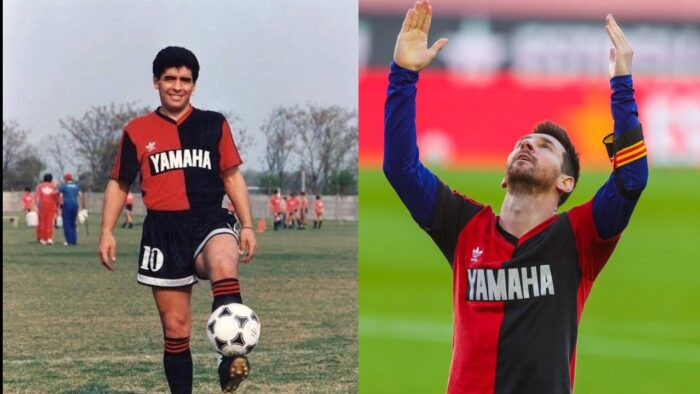 homenaje Messi a Maradona