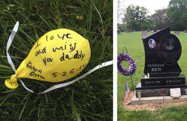 Este globo viajó más de 1.300 kilómetros con un increíble mensaje escrito por estas niñas a su padre fallecido