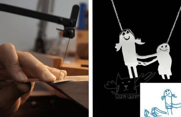 Este increíble taller convierte los dibujos hechos por tus hijos en verdaderas joyas