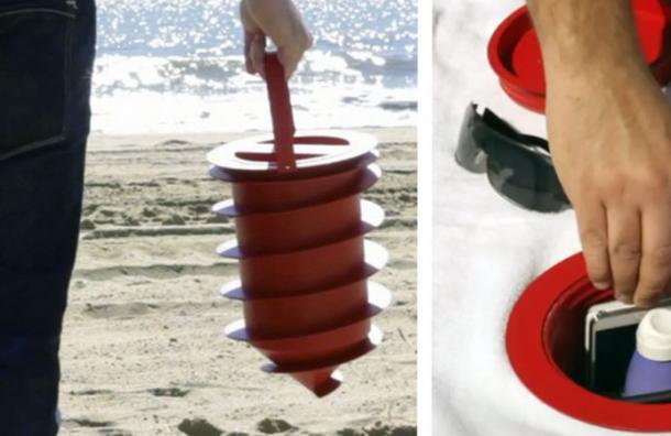 Este revolucionario invento te permitirá dejar tus cosas seguras mientras disfrutas de la playa